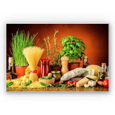 Hartschaumbild Italienisch Kochen