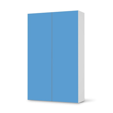 Klebefolie IKEA Besta Schrank 2 Türen (hoch) - Blau Light