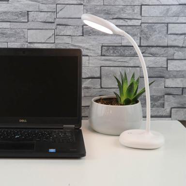 LED Akkuleuchte Galy in Weiss 1.7W 200lm USB