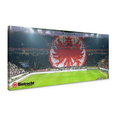 Leinwandbild Eintracht Frankfurt Arena Fanlogo - Panorama