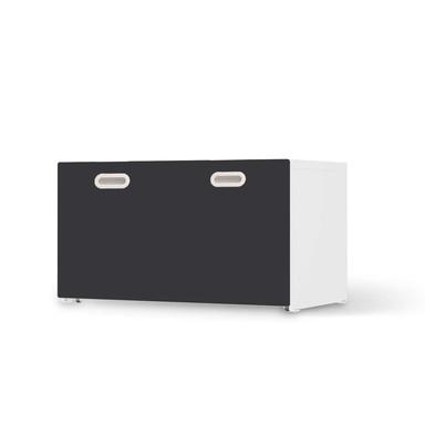 Möbelfolie IKEA Stuva / Fritids Bank mit Kasten - Grau Dark