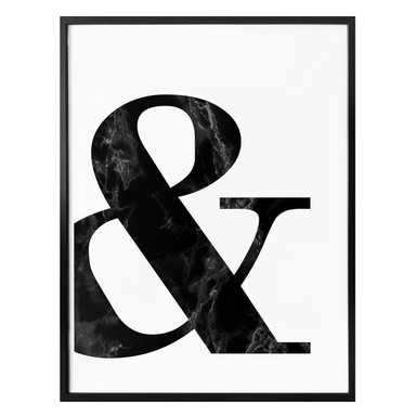 Poster Black Marble Ampersand