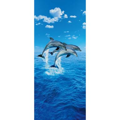 Türtapete Three Dolphins - 86x200cm