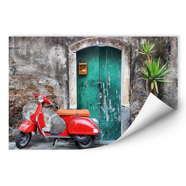 Wallprint Red Scooter