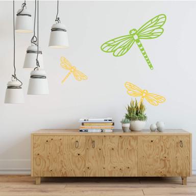 Wandtattoo Origami Libelle