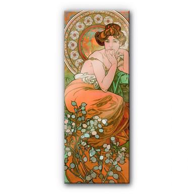 Acrylglasbild Mucha - Edelsteine: Topas