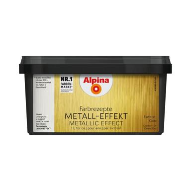 Alpina Farbrezepte METALL-EFFEKT Gold - 1 Liter - Bild 1