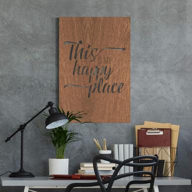 Dekobild Mahagoni - This is my happy place
