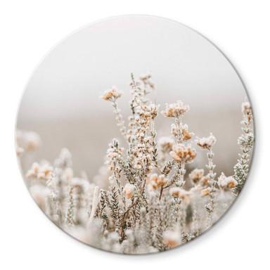 Glasbild Annie - Eisblüten - Rund