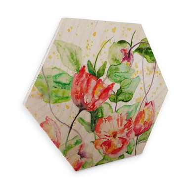 Hexagon - Holz Toetzke - Gartenblumen