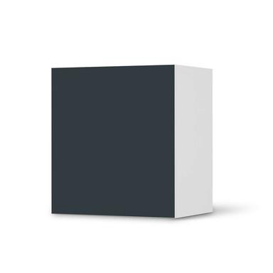 Klebefolie IKEA Besta Regal 1 Türe - Blaugrau Dark