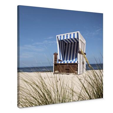 Leinwandbild Strandkorb - Quadratisch