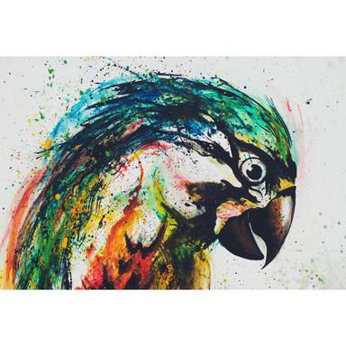 Livingwalls Fototapete ARTist Parrot mit Papagei blau, gelb, grau, grün, rot, schwarz - Bild 1