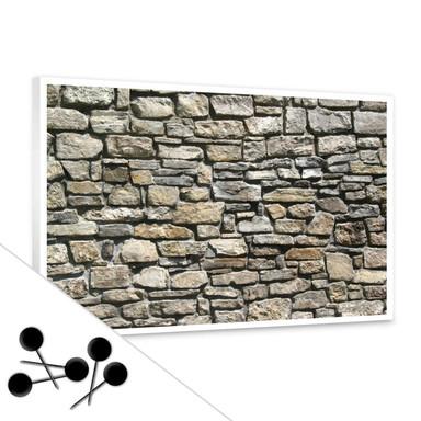 Pinwand Natursteinmauer inkl. 5 Pinnadeln