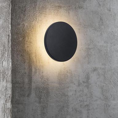 Runde LED Aussenwandleuchte Artego schwarz