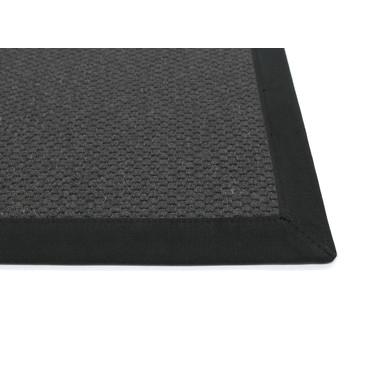 Saba Wollweb 5cm Bordürenteppich | Wunschmass | Rechteckig | Black | Schwarz 40