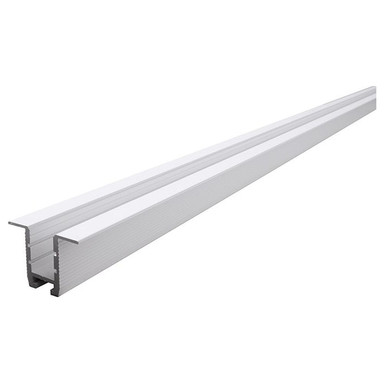 Trockenbau-Profil, Wand-Decke ET-03-10 für 12mm LED Stripes, Weiss-matt, 1250 mm