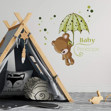 Wandsticker Baby Grün