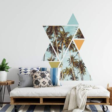 Wandtattoo Palmen im Dreieck