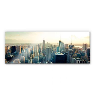 Acrylglasbild Skyline von New York City - Panorama