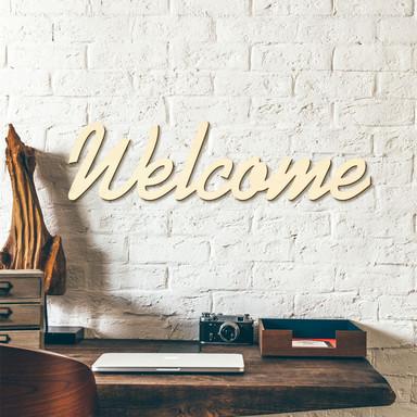 Holzbuchstaben Welcome ink. 8 Klebepads