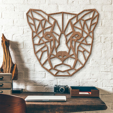 Holzkunst Mahagoni - Origami Gepard