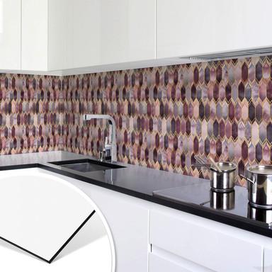 Küchenrückwand Fredriksson - Glasmalerei: Rosé und Gold
