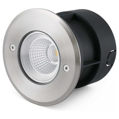 LED Bodeneinbaustrahler Suria aus Edelstahl in Silber belastbar bis 1T 120 mm