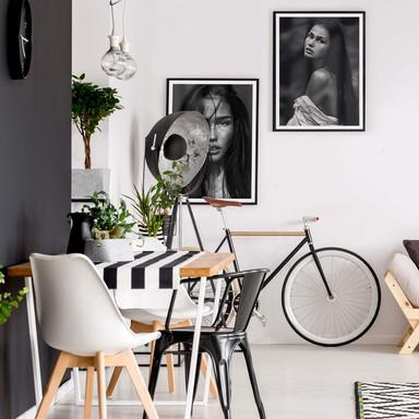 Poster-Set mit Bilderrahmen Messy Hair (2er Set) - Bild 1