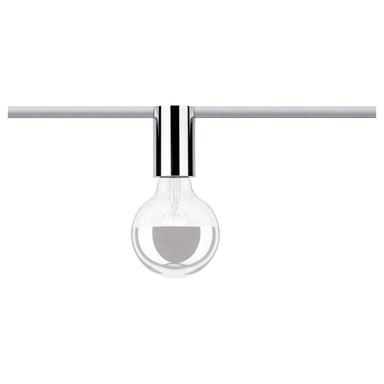 URail Spot Ceiling Socket Chrom dimmbar ohne Leuchtmittel, max. 20W E27