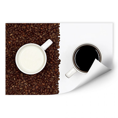 Wallprint Lavsen - White Espresso