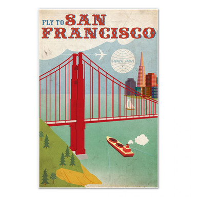 Wandbild PAN AM - Fly to San Francisco