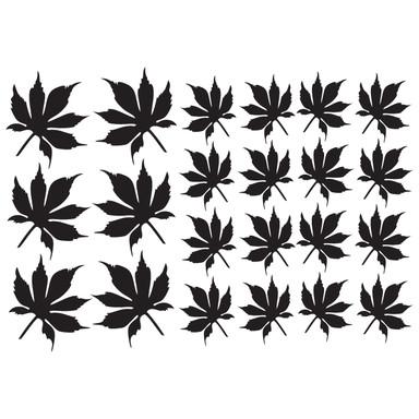 Wandtattoo Blätter-Set 19