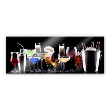 Acrylglasbild Cocktail Feeling - Panorama