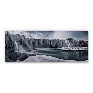 Alu-Dibond Bild Shcherbina - Islands Wasserfälle - Panorama