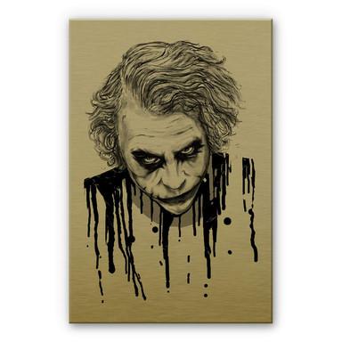 Alu-Dibond-Goldeffekt Nicebleed - The Joker