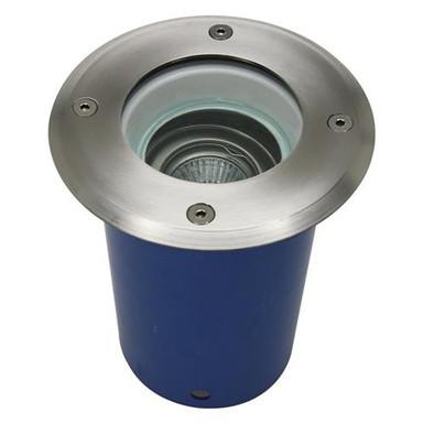 Bodeneinbaustrahler Spandau aus Alu Druckguss in Silber GU10 160mm