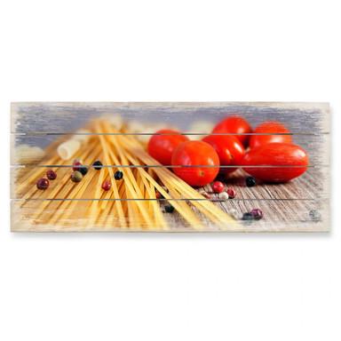 Holzbild Spaghetti alla mamma