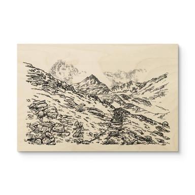 Holzposter Sparshott - Die Berglandschaft