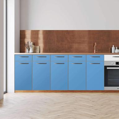 Küchenfolie - Unterschrank 200cm Breite - Blau Light