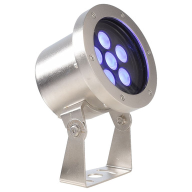 LED Unterwasserleuchte RGB Fiara in Silber und Transparent 21.8W IP68