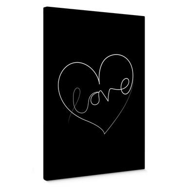 Leinwandbild Hariri - Love Lines - Schwarz-Weiss