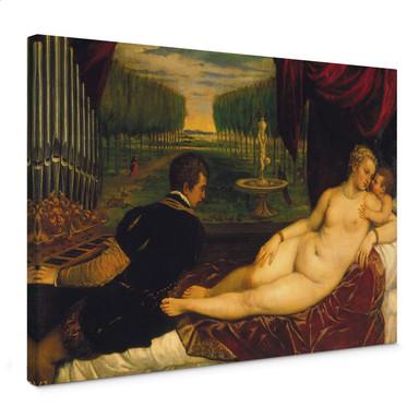 Leinwandbild Tizian - Venus mit dem Orgelspieler