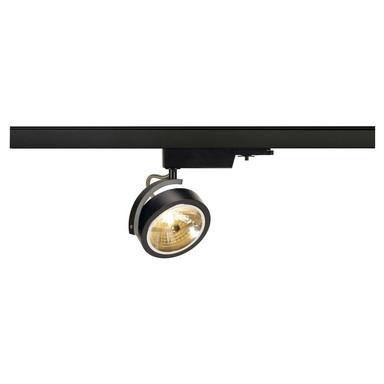 Leuchtenspot Kalu Track für 3-Phasen-Stromschiene in schwarz, inkl. Adapter, dreh- und schwenkbar
