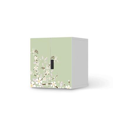 Möbelfolie IKEA Stuva / Malad Schrank - 2 kleine Türen - White Blossoms