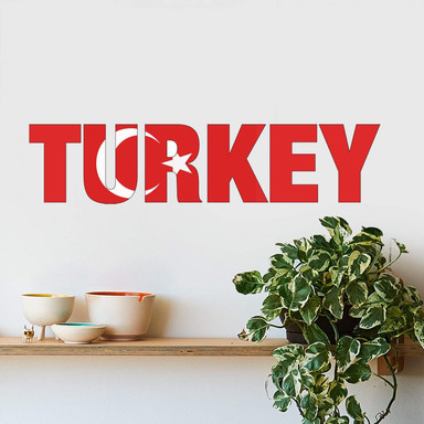 Wandsticker Turkey Schriftzug