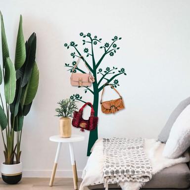 Wandtattoo Blütenbaum + 3 Haken