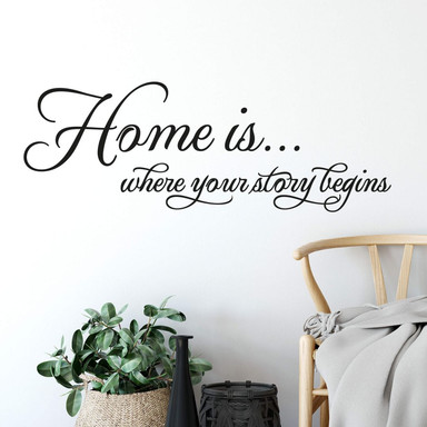 Wandtattoo Home is where your story begins.