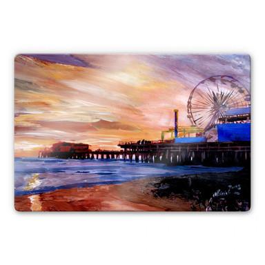 Glasbild Bleichner - Santa Monica Pier