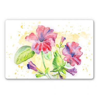 Glasbild Toetzke - Leuchtender Blütenkelch